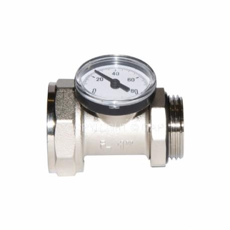 """Rallonge 1"""" pour collecteur avec thermomètre"""