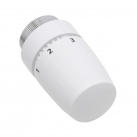 Tête thermostatique design blanc élément cire