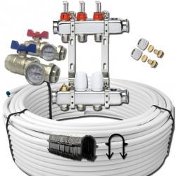 Kit plancher chauffant - tube multicouche (/10m²)