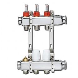 Collecteur Inox pour plancher chauffant avec vanne et thermostat de sécurité